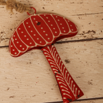 Red and white rustic toadstool